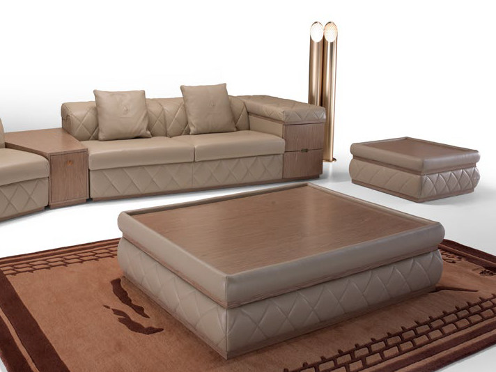 Low rectangular leather coffee table MELBOURNE | Rectangular coffee table by Tonino Lamborghini Casa