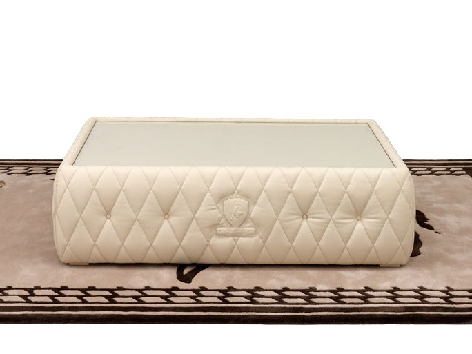 Low rectangular leather coffee table DERBY | Rectangular coffee table by Tonino Lamborghini Casa