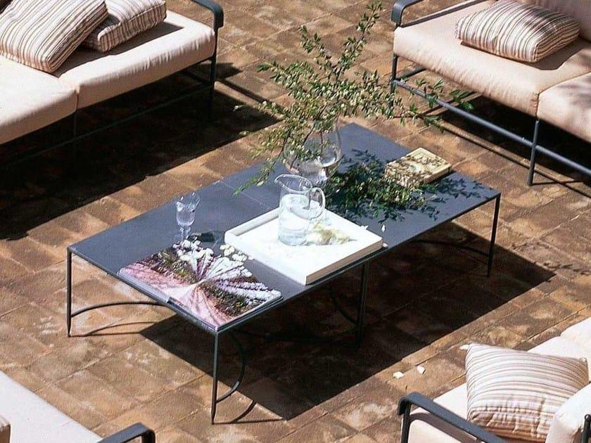 Rectangular iron garden side table TOSCANA | Rectangular coffee table by Unopiù