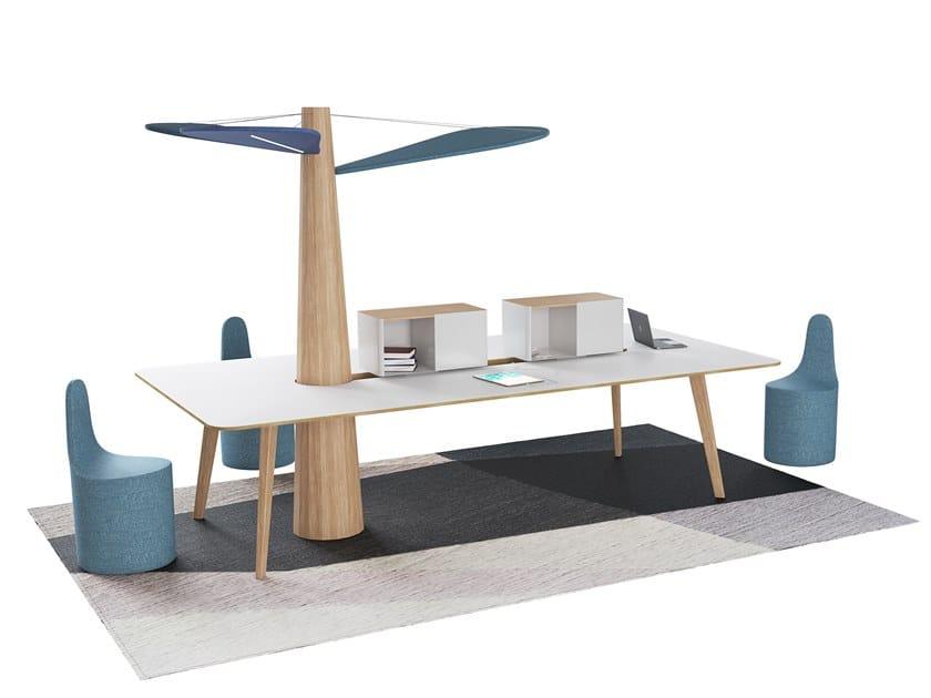 Rectangular meeting table BAOBAB | Rectangular meeting table by ESTEL GROUP