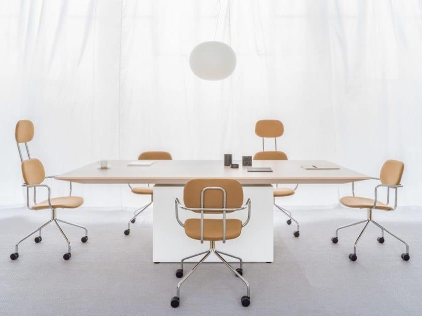 Rectangular melamine-faced chipboard meeting table GRAVITY | Rectangular meeting table by MDD