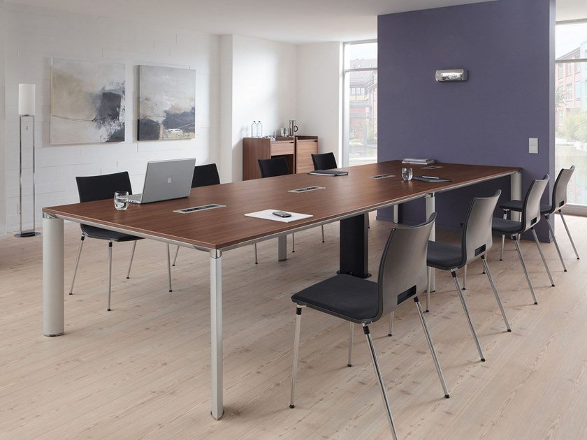 Rectangular meeting table PALMA | Rectangular meeting table by PALMBERG