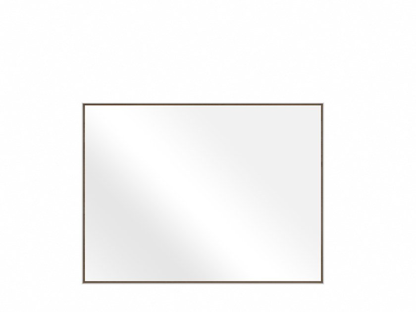Rectangular wall-mounted bathroom mirror OAK LAYERS | Rectangular mirror by Ethnicraft
