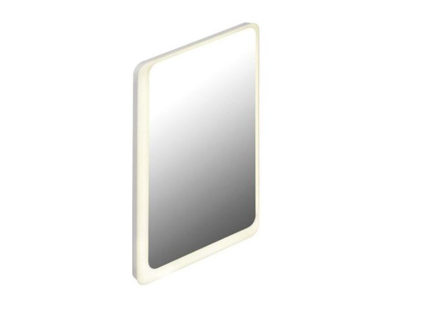 Rectangular bathroom mirror with integrated lighting Rectangular mirror by HEWI