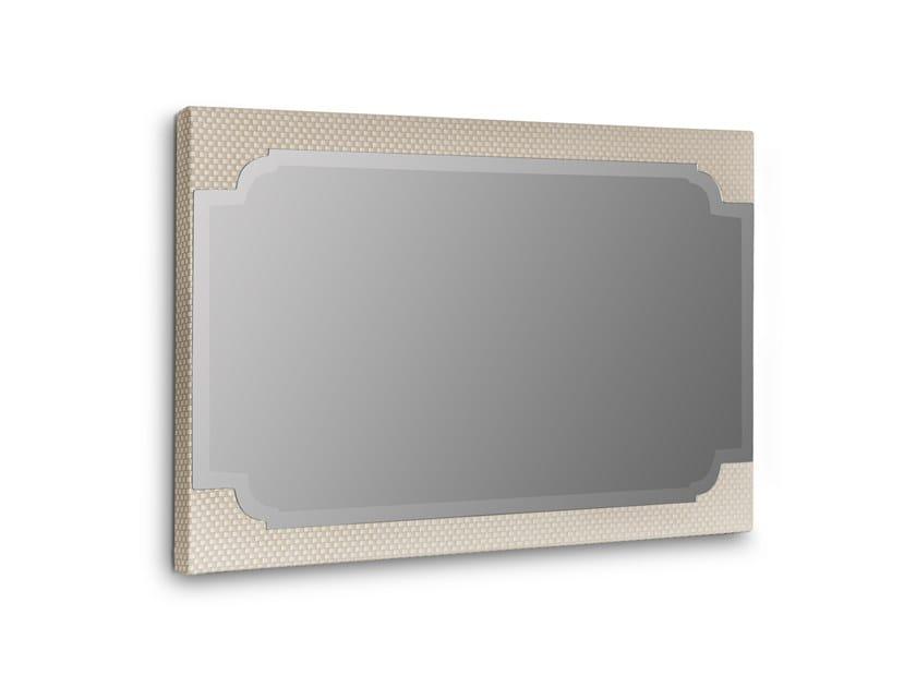 Rectangular framed wall-mounted fabric mirror COCKTAIL | Rectangular mirror by Stylish Club