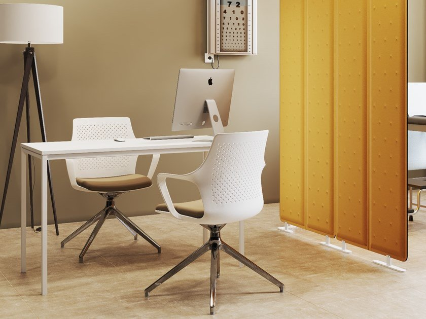 Rectangular writing desk SUITE | Rectangular office desk by Steelbox by Metalway