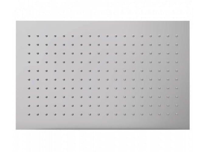 Rectangular stainless steel overhead shower TETIS | Rectangular overhead shower by Bossini