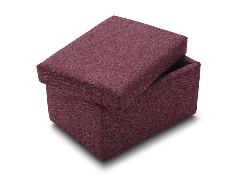 Storage upholstered rectangular fabric pouf SECRET BIG by Felis