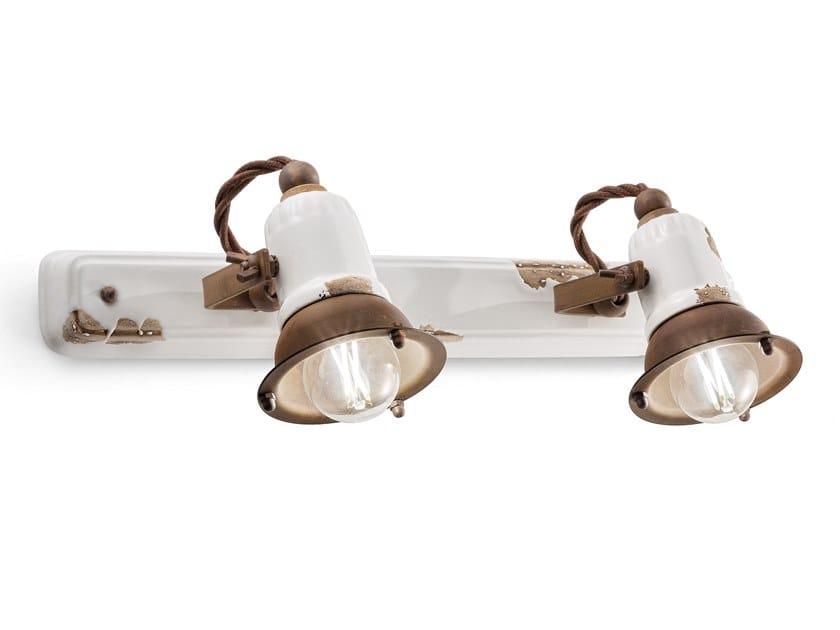Wall-mounted multiple rectangular ceramic spotlight LOFT   Rectangular spotlight by FERROLUCE