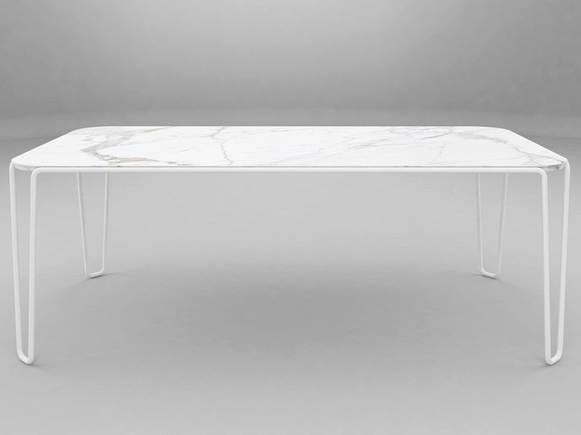 Rectangular marble table FIRST | Rectangular table by BALERI ITALIA