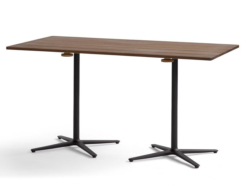 Rectangular wooden table with 4-star base GAP | Rectangular table by Blå Station