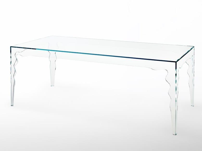 Rectangular crystal table JABOT   Rectangular table by Glas Italia