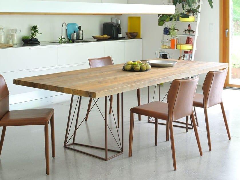 Rectangular briccola wood table ROXY | Rectangular table by Italy Dream Design