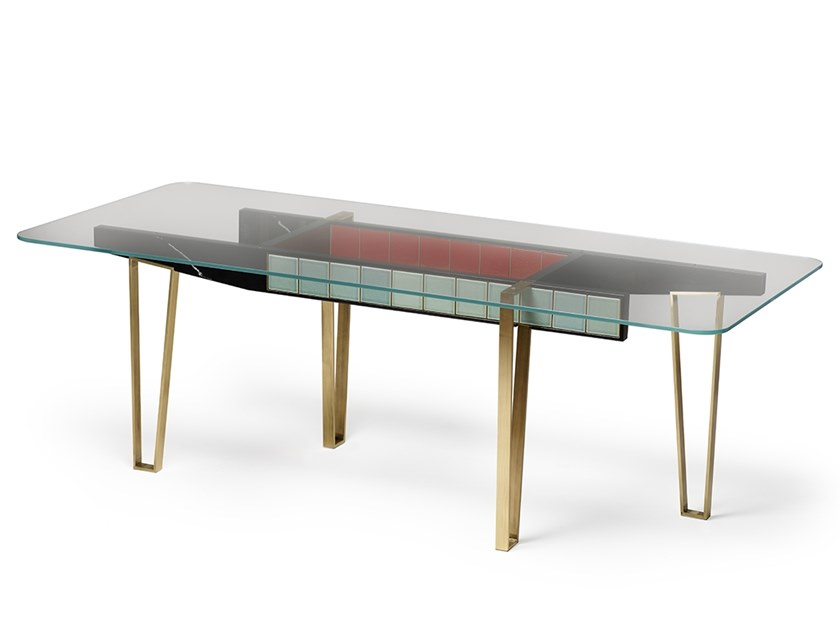 Rectangular dining table Rectangular table by MARIONI