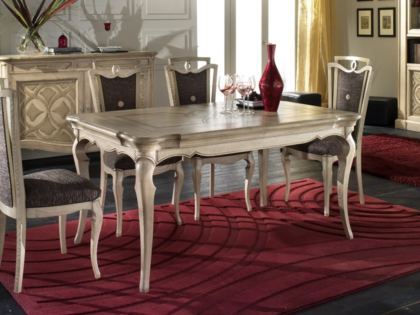 Extending rectangular ash table CA' FOSCARI | Rectangular table by MOLETTA