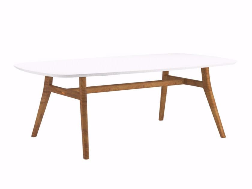 Rectangular ceramic garden table ZIDIZ   Rectangular table by ROYAL BOTANIA