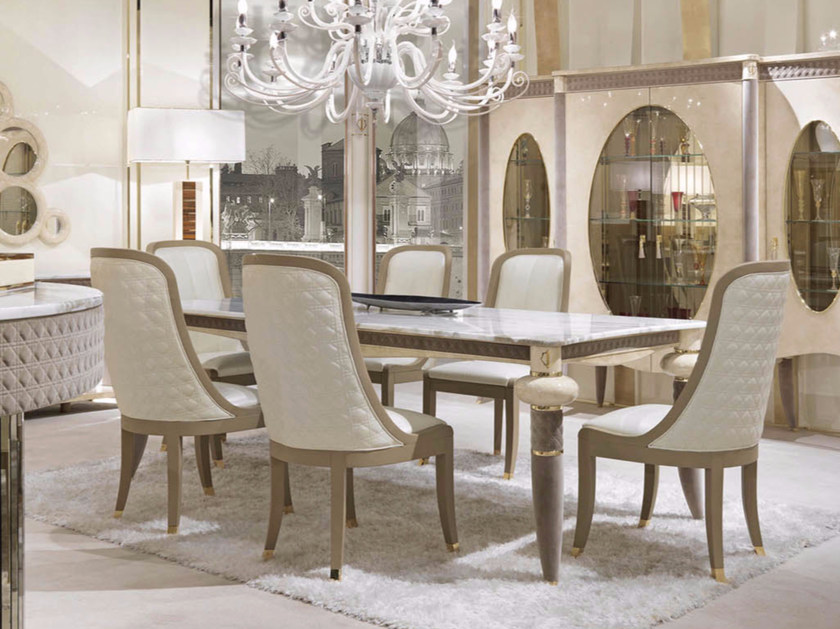 Rectangular marble table CARACTERE | Rectangular table by Turri