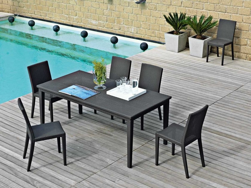 Rectangular garden table SUNLACE | Rectangular table by Unopiù