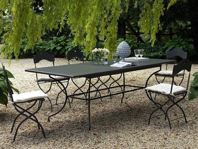 Extending iron garden table ARTHUR | Rectangular table by Unopiù