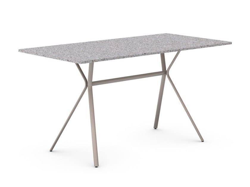 Rectangular iron dining table CURVA | Rectangular table by Vela Arredamenti