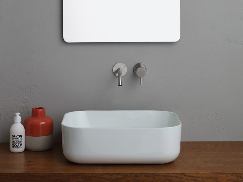 Countertop rectangular ceramic washbasin UNICA | Rectangular washbasin by Alice Ceramica