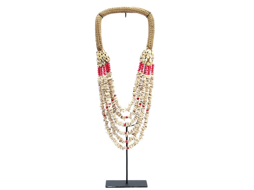 Metal decorative object RED PEARL NECKLACE by Bazar Bizar
