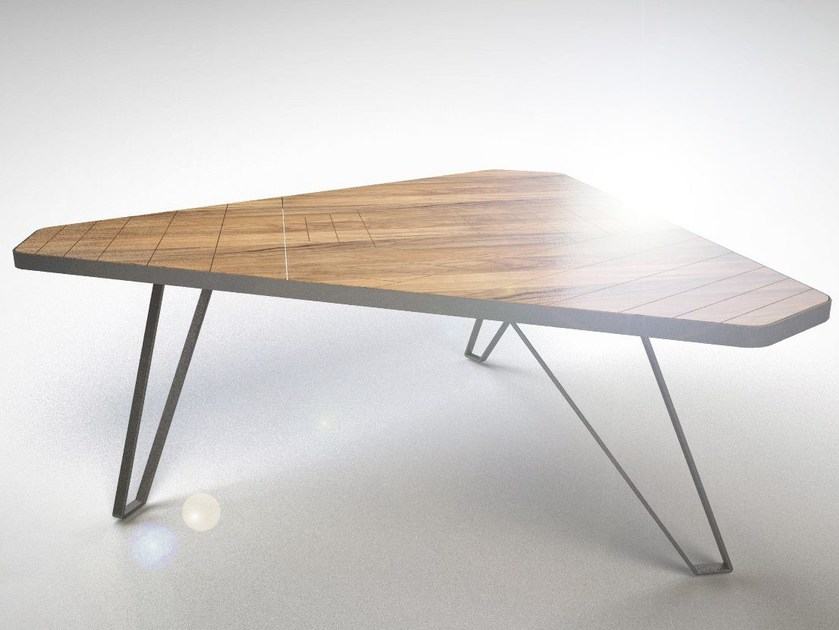 Walnut table RED PLANET by IronWoods