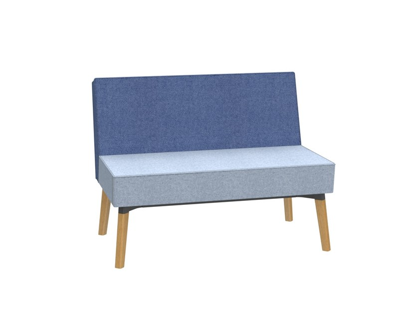 1,5-seater bench REEFS | Bench seating with back by Dauphin