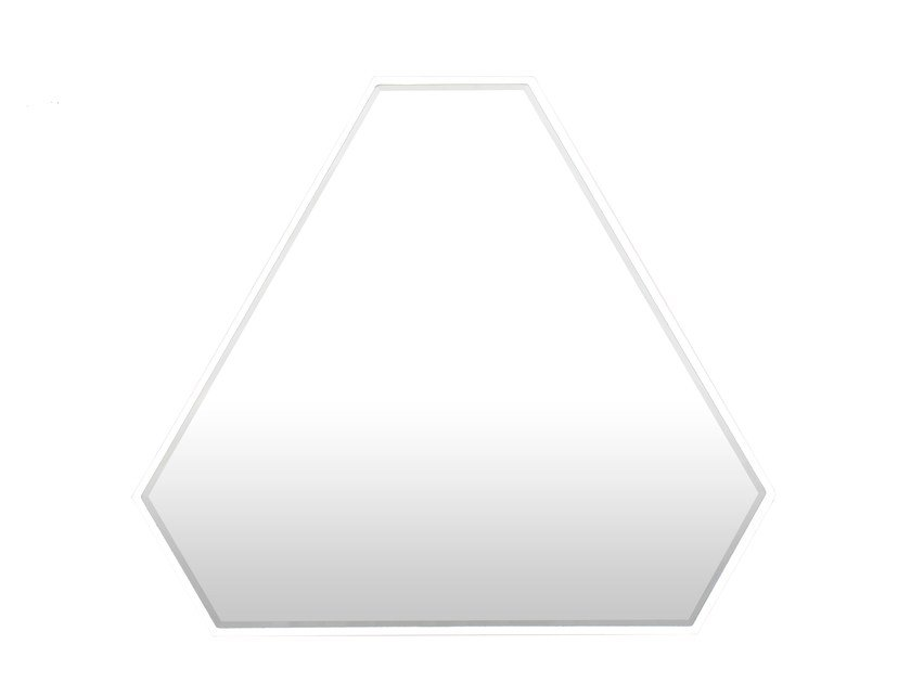 Wall-mounted mirror REFLECTION TRIANGLE by Novel Cabinet Makers