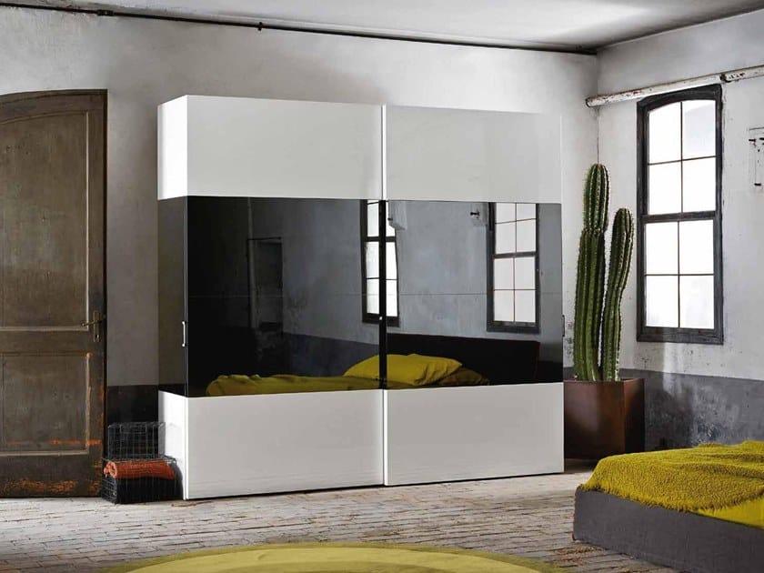 Mirrored wardrobe REFLEX by ZANETTE