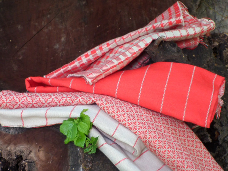 Striped jacquard fabric REFUGE GESSATO by l'Opificio