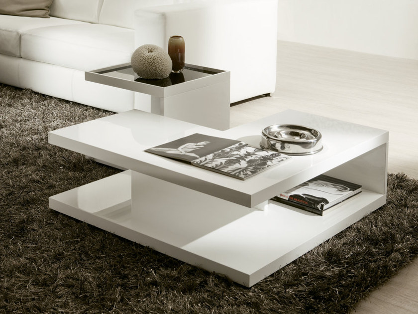 Lacquered square coffee table REGAL by Pacini & Cappellini