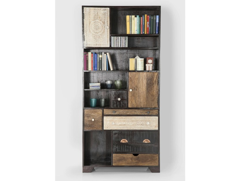 Open wooden bookcase REGAL FINCA by KARE-DESIGN