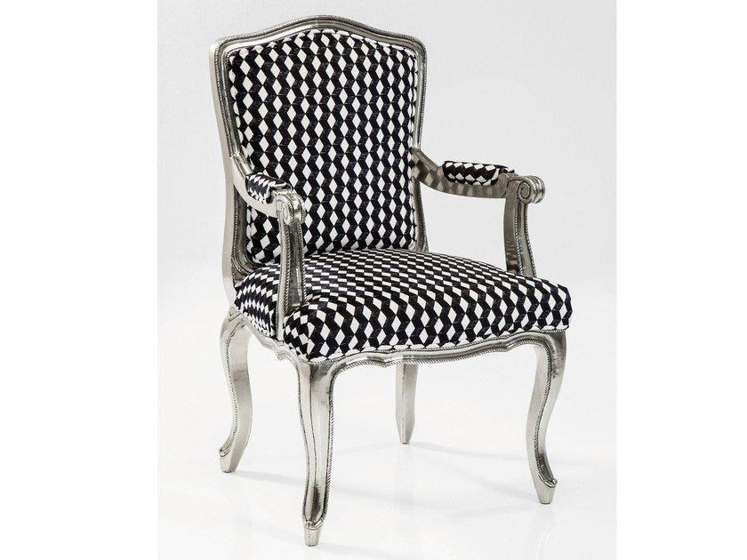 Upholstered fabric armchair with armrests REGENCY CARO | Armchair with armrests by KARE-DESIGN