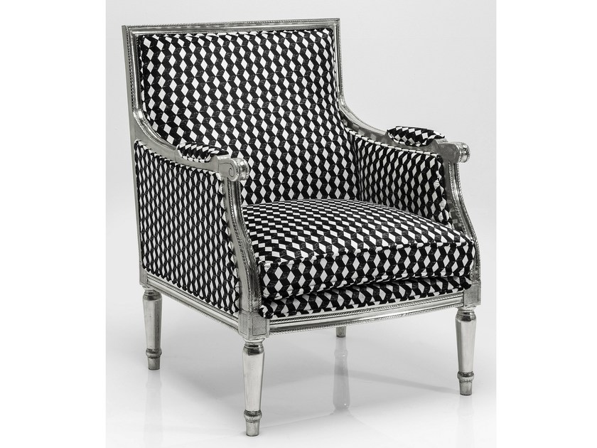 Fabric armchair with armrests REGENCY CARO   Armchair by KARE-DESIGN