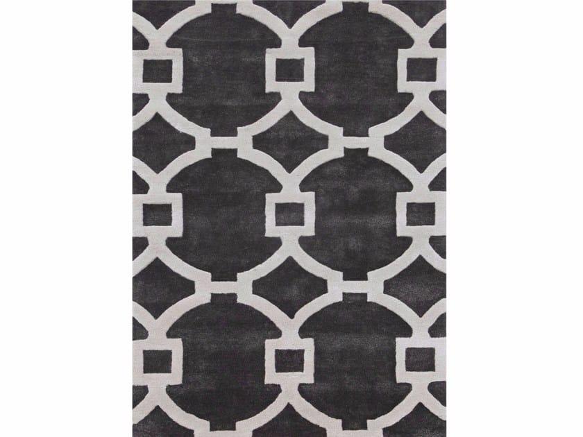 Rug with geometric shapes REGENCY TAQ-193 Liquorice/Liquorice by Jaipur Rugs