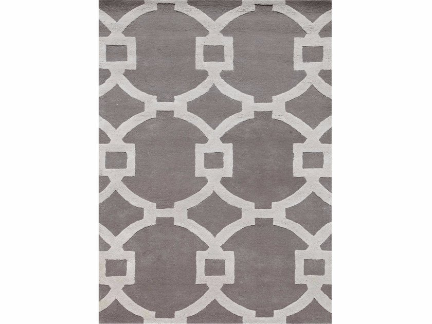Rug with geometric shapes REGENCY TAQ-193 Ashwood/White by Jaipur Rugs