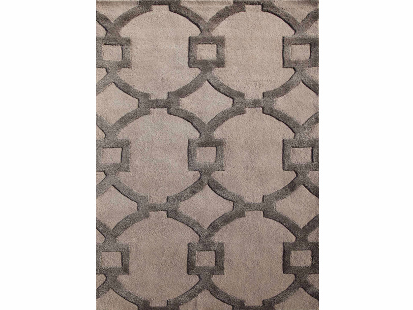 Tappeto a motivi geometrici REGENCY TAQ-193 Antique White/Charcoal by Jaipur Rugs