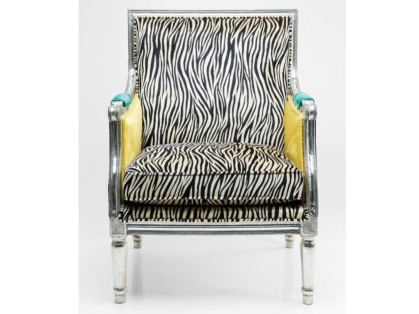 Upholstered fabric armchair with armrests REGENCY ZEBRA by KARE-DESIGN
