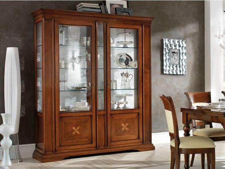Solid Wood Display Cabinet REGINA | Display Cabinet By Devina Nais