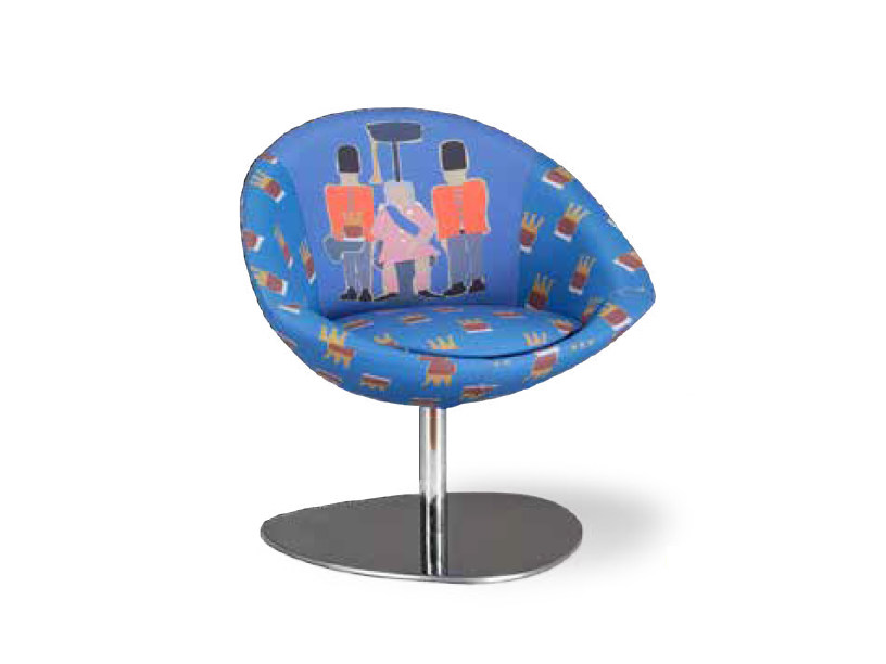 Upholstered fabric easy chair REGINA by Mirabili