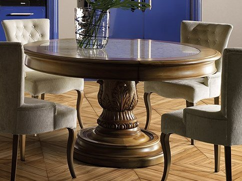 Round cherry wood dining table REGINA | Round table by Prestige