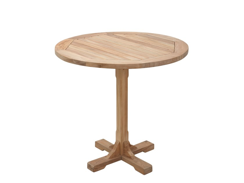 Round teak garden table REGISTA | Round table by Il Giardino di Legno