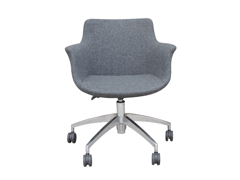 Fabric task chair with 5-Spoke base with armrests REGO OFFICE | Fabric task chair by B&T Design