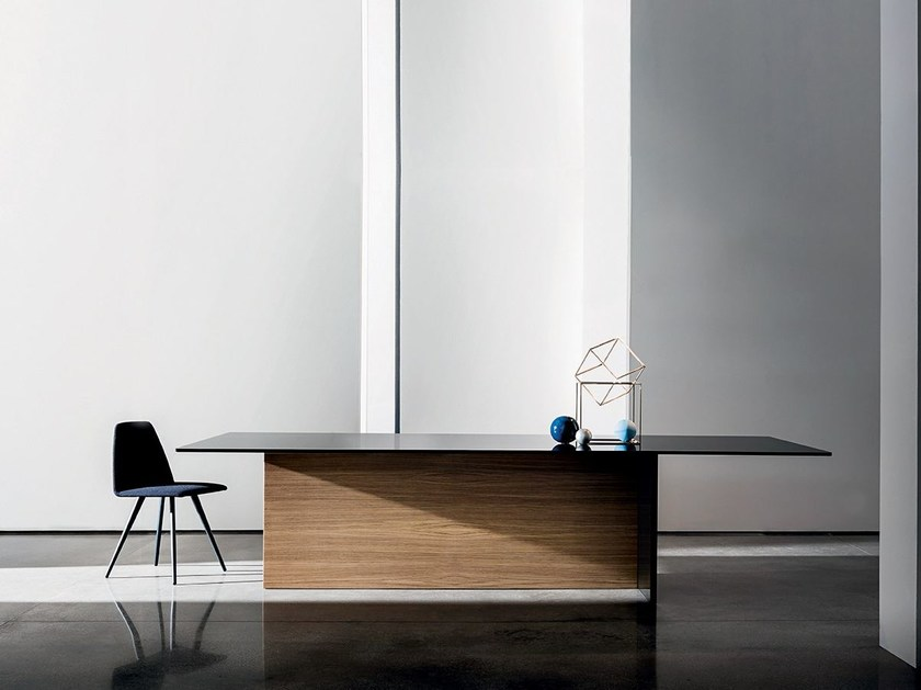 Rectangular wood and glass table REGOLO | Rectangular table by Sovet italia