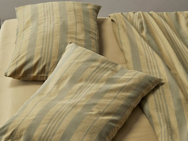 Striped cotton pillow case REI | Striped pillow case by Society Limonta