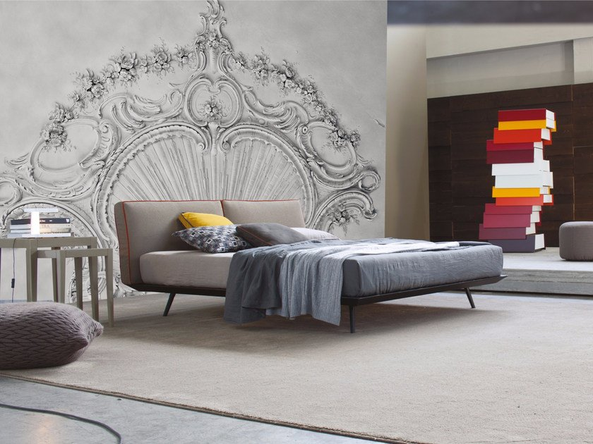Relief wall effect panoramic wallpaper REINASSANCE by Inkiostro Bianco