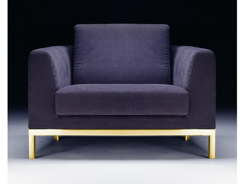 Upholstered fabric armchair with armrests RELAX | Armchair by Vela Arredamenti