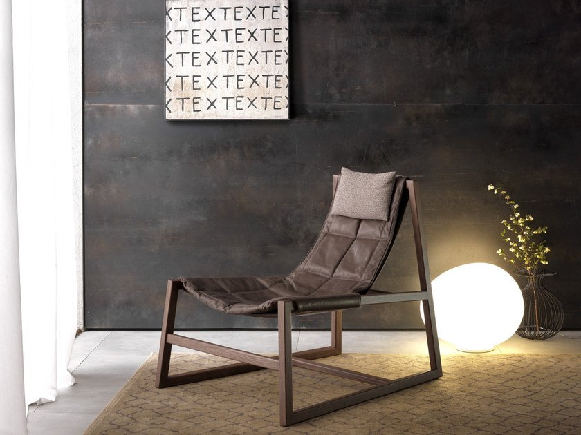 Poltroncina in pelle RELAX by Pacini & Cappellini