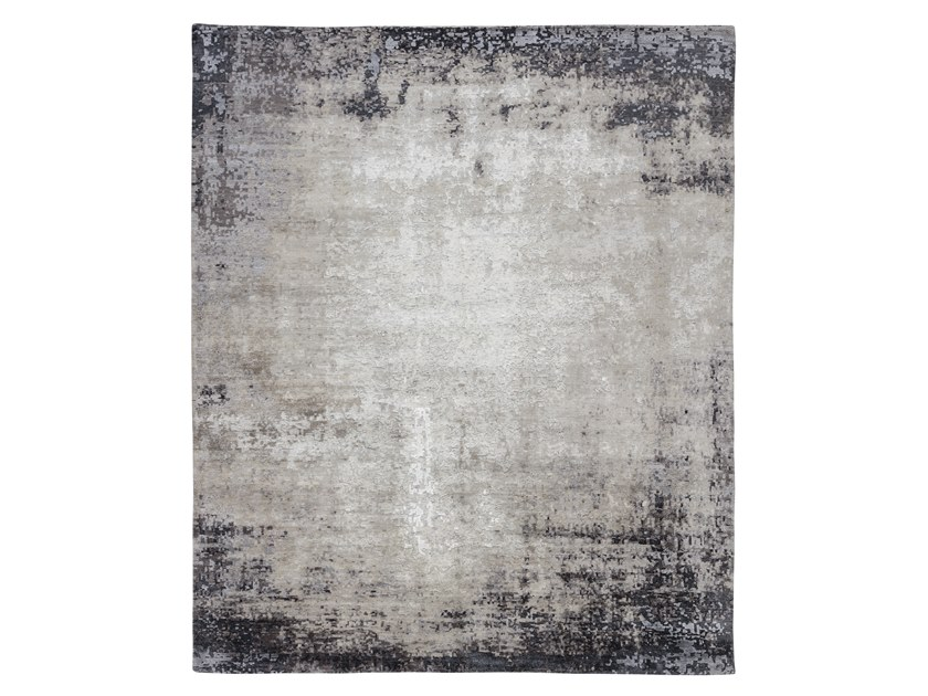 Tappeto fatto a mano su misura RELINED 10047 C GREY by Thibault Van Renne